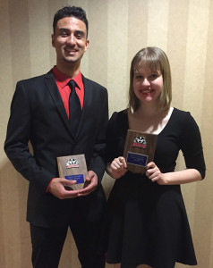 Logan Wilford and Elizabeth Aaltonen Rookie of the Year