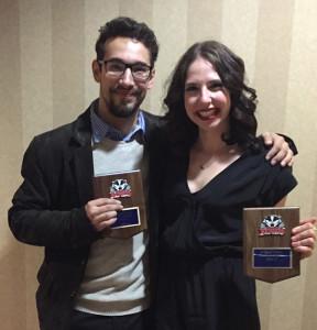 Alecs Tudor and Hannah Pass - Douglas Award Winners
